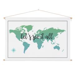wereldkaart-tekst-see-it-all-kompas-textielposter-stokken
